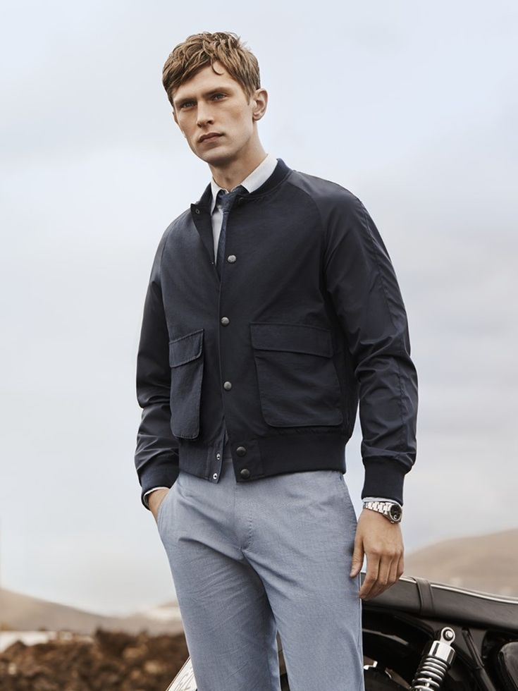 2250 best bomber jackets images on pinterest men fashion for Gray dress shirt black pants