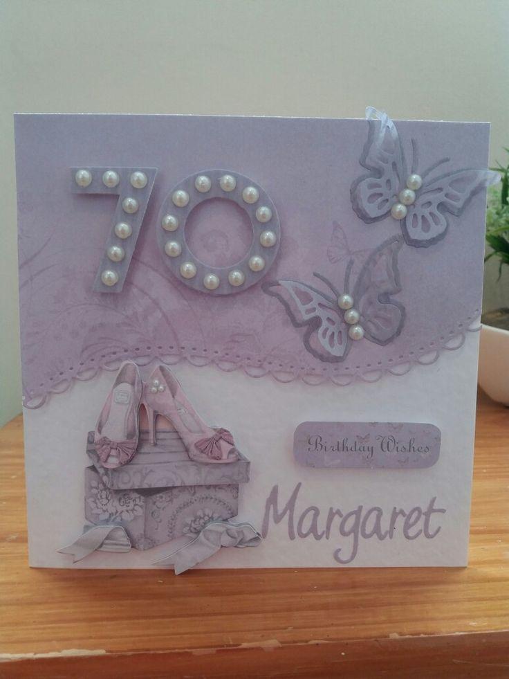 Female 70th birthday card