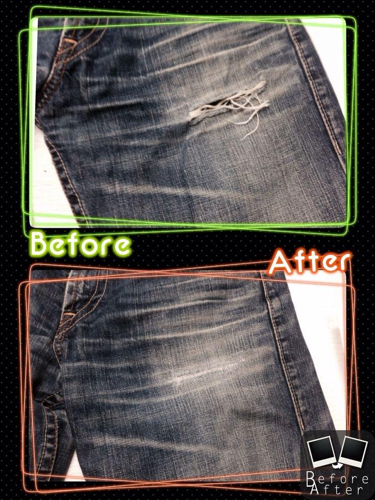 Levi'sリーバイスデニムポケット下破れ直し  裏当てしてノーマル修理です。