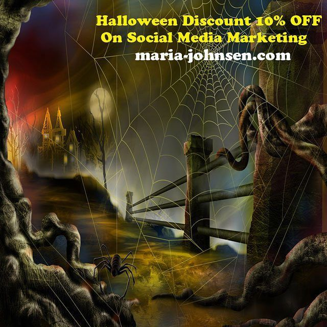 10% OFF halloween discount on social media marketing