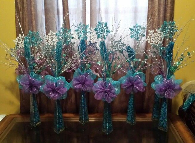 Frozen theme centerpiece by me €£@