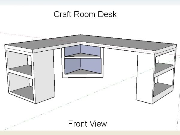 Craft Room Desk Design @Jess Liu Short (you need to follow this girl or at least her read her blog! it's all diy home projects with power tools that she does!)
