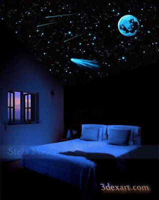 Fiber Optic Star Ceiling Starry Sky Perfect For When Wendy Wants To - How-to-make-a-starry-night-ceiling-in-the-bedroom