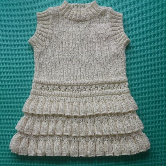 Woollen girls tunic magnolia color by ZozzyZozzy on Etsy, $50.00