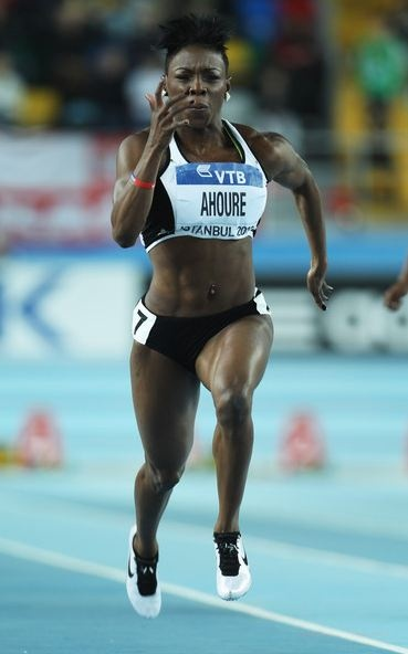 Muriel Ahoure is a world champion sprinter from the Ivory Coast who had a breakout year in 2012 on the lead up to the London 2012 Olympic Games. Ahoure is a world indoor 60 meters silver medalist and a finalist in the 100 meters at the London Olympic Games. She holds the 60, 100 and 200 meters national records for women for the Ivory Coast