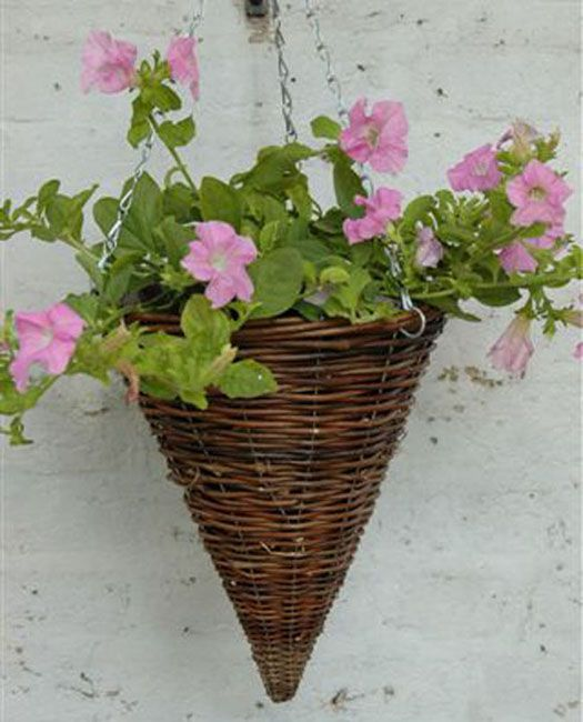 Hanging Flower Baskets Cone Shaped : Best images about home on bright spring