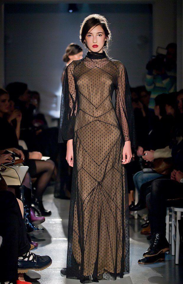 Parlor Fashion Show! #silk #fashion #nude #dots #beautiful #glamour #parlor