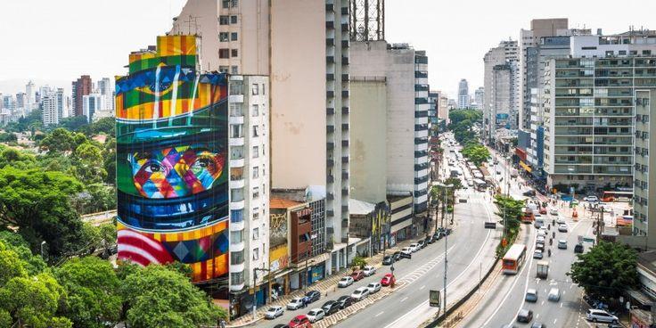 Mural de Ayrton Senna, o mais novo cartão-postal de São Paulo, é inaugurado na Av. Paulista | Ayrton Senna
