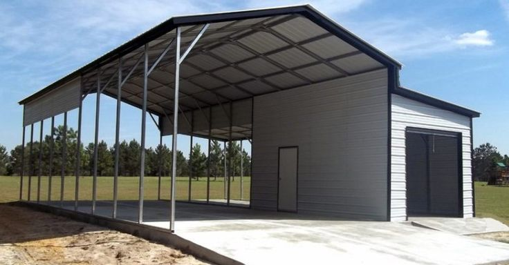 Ideal Steel Carports designs and builds all types of custom buildings. #garage