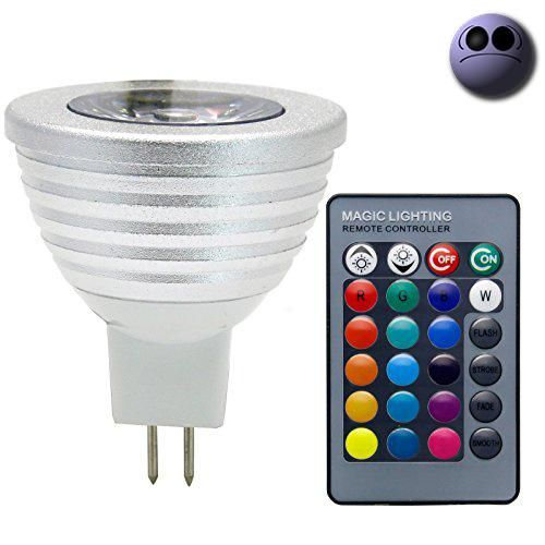 #sale Features: RGB LED spotlight for home lighting and decoration. Comes with a remote #control. More than 16 colors available. 4 amazing lighting effects: Flas...