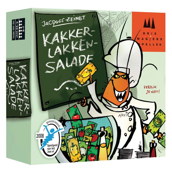 De spelers stellen zo snel mogelijk een salade samen, waarbij ze gespeelde groentekaarten op de juiste manier moeten benoemen.Omdat een groente niet twee keer na elkaar gezegd mag worden, ontstaat er al gauw verwarring. Is een tomaat een paprika of toch gewoon een tomaat?Elke aarzeling of elk verkeerd geluid is fataal. Blijf geconcentreerd, want versproken is versproken!In dit hilarische spel voor het hele gezin is het zaak om goed in de gaten te houden welke kaart als laatste gelegd is…