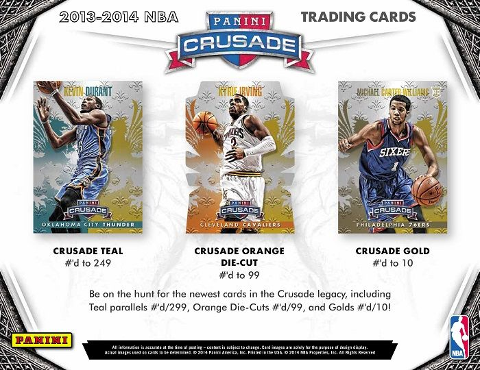 2013-14 Panini Crusade Basketball Hobby Box