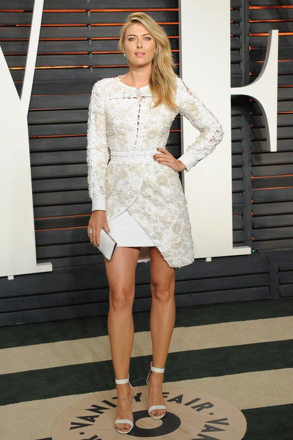 Maria Sharapova There Were A Lot Of White Dresses At This Oscars After Party