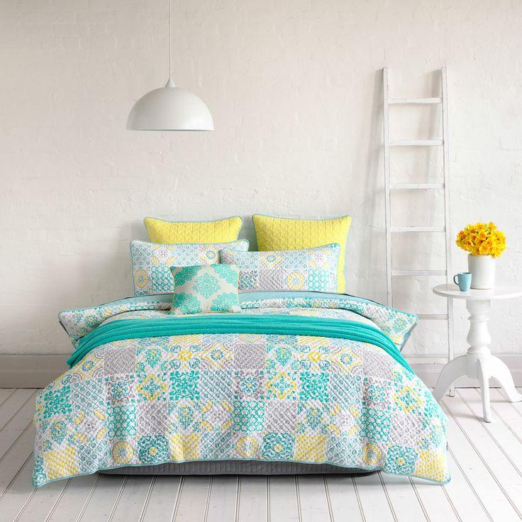 Mercer + Reid Cadiz   Bedroom Quilt Covers U0026 Coverlets   Adairs Online