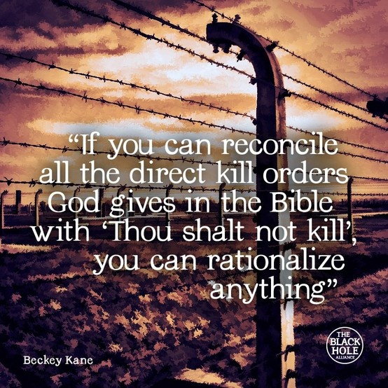 Can you rationalise 'Thou shalt not kill' with god's orders to kill? It's negotiable like all of religion.
