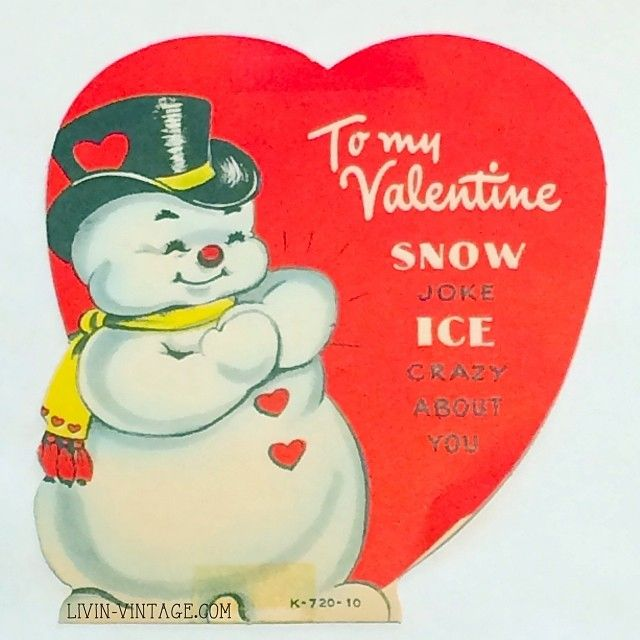 56 best Vintage valentine Cards Winter images – Crazy Valentine Cards