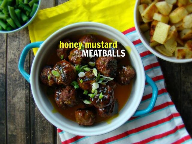 Family Feedbag: Grilled honey mustard meatballs