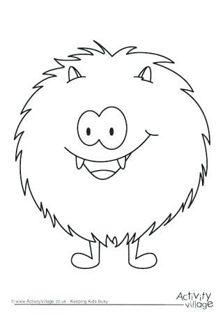 monster outline coloring pages - photo#7