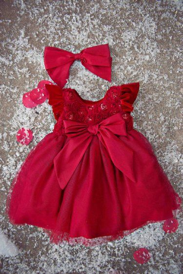 Holiday Sparkle Infant Dress  12 to 24 Months  Now in Stock