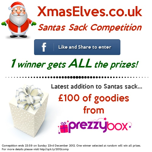 The latest prize to be added to Santa's Sack is £100 worth of @Prezzybox .com Gifts!