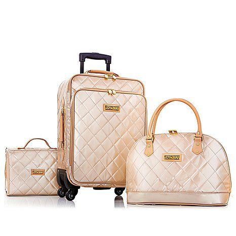 Joy & IMAN 4-piece Iconic Quilted Luggage Set w/Handbag