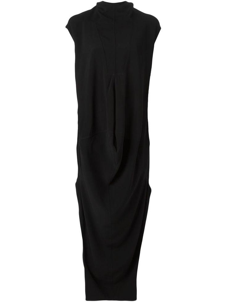 Rick Owens Драпированное Платье Асимметричного Кроя - Stefania Mode - Farfetch.com
