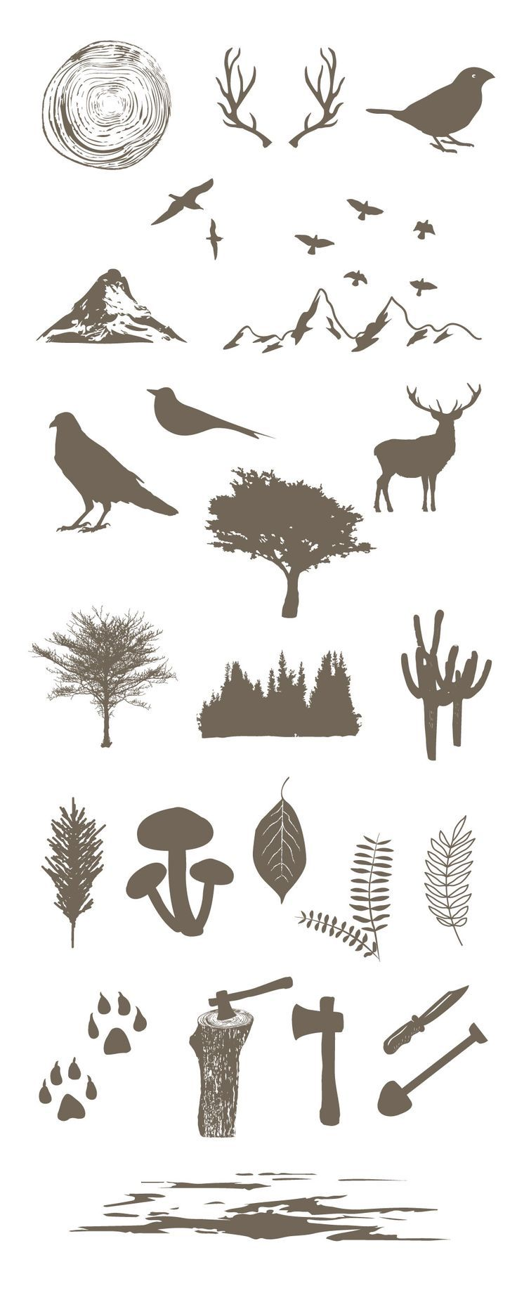 Free Forest Vector Elements | Ai, Eps & Pdf Files (8.31 MB) | http://graphicsfuel.com | #free #vector