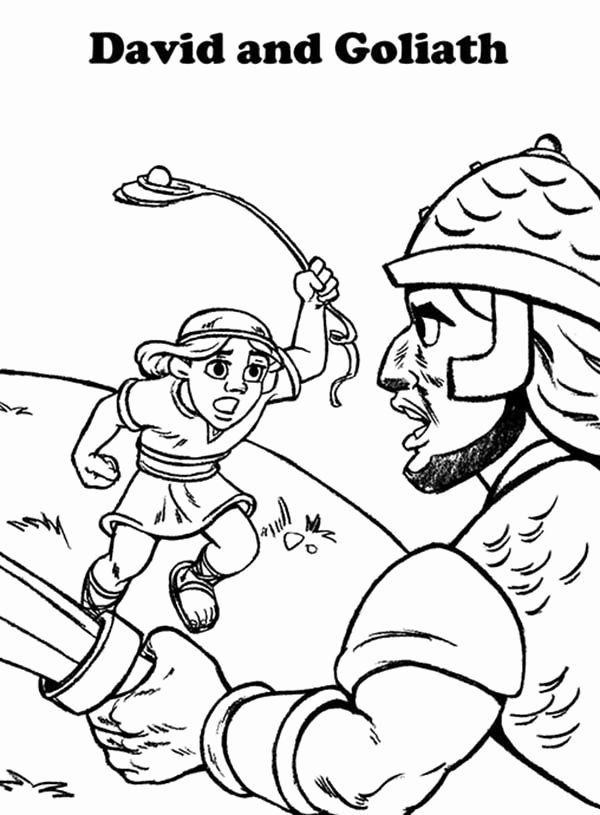 24 David And Goliath Coloring Page In 2020 Coloring Pages