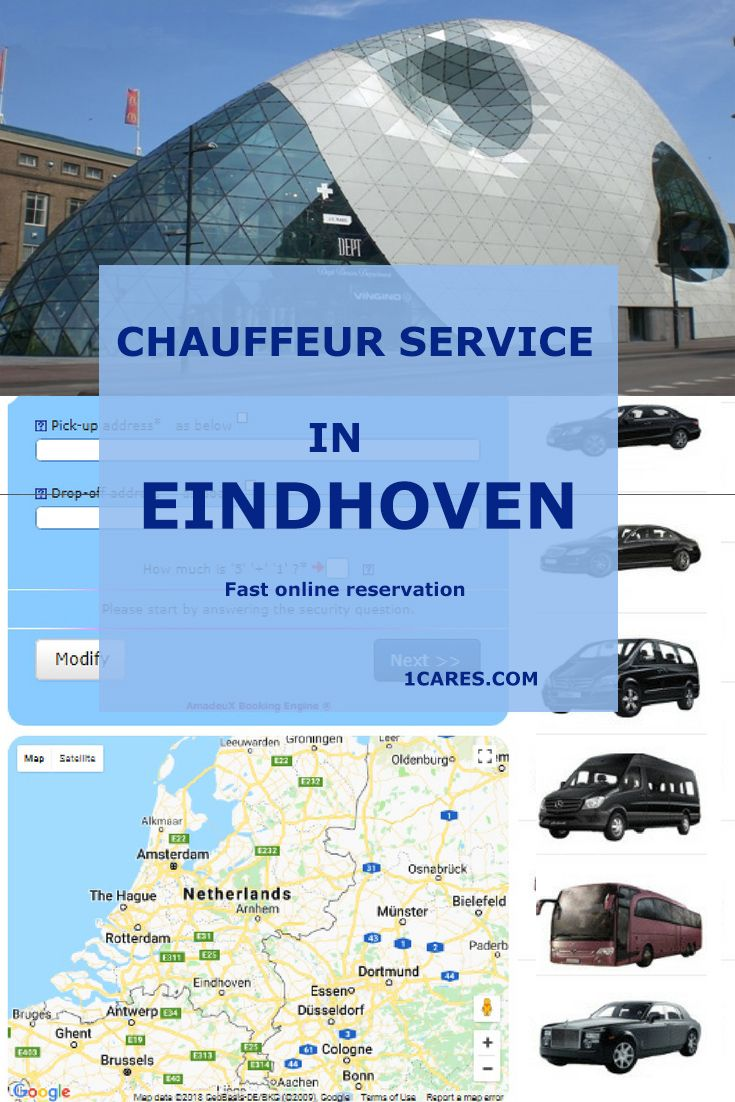 Chauffeur service in Endhoven Netherlands for your