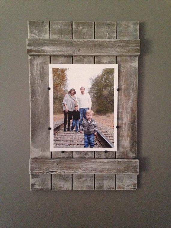 Rustic Soul Designs Planked Wood Picture Frame - 8x10, whitewashed, farmhouse style,