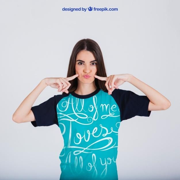 Download Female Weating A T Shirt For Any Designer That Is Looking To Display Their Design Professionally Download Clothing Mockup Create Custom T Shirts Shirt Mockup