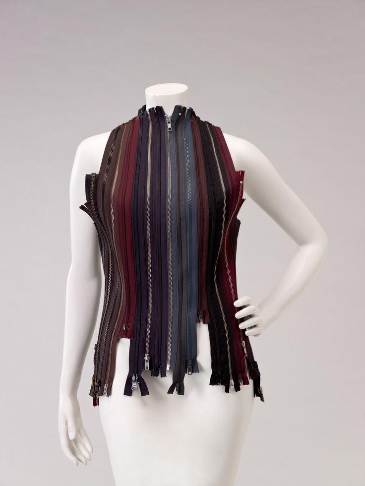 Vest | Martin Margiela | Belgium, Autumn/Winter 2001 | Polyester and nylon metal zippers | Indianapolis Museum of Art
