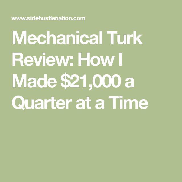 Mechanical Turk Review: How I Made $21,000 a Quarter at a Time