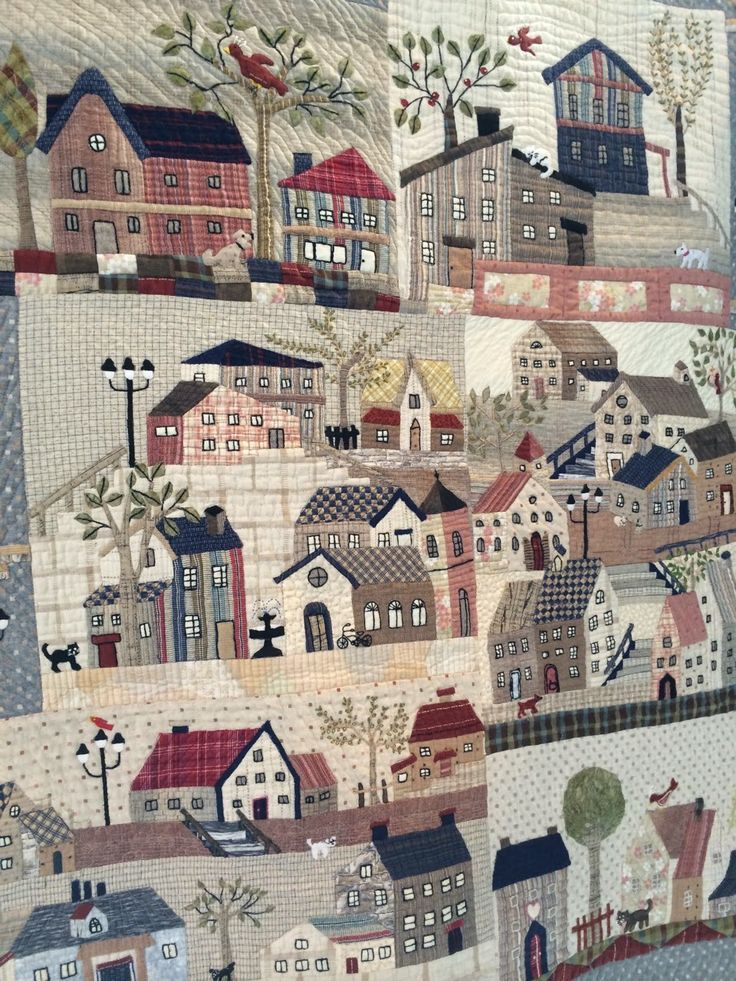 HenHouse: The Festival of Quilts. 2014. Has a Grandma Moses feel to it.