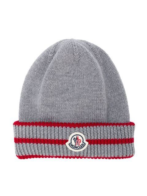 b17365336 Moncler Kids Logo Ribbed Beanie Hat | AW19/20 | Beanie hats, Kids ...