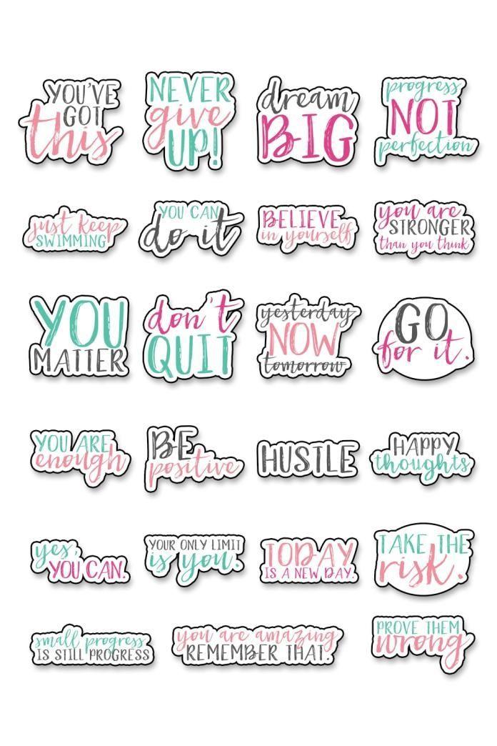 Motivational Stickers Free Motivational Planner Stickers Dengan