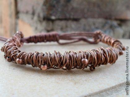 Ночная буря - медь,медный браслет,кованная медь,старинный браслет,винтажный браслет