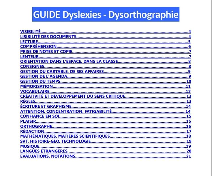 GUIDE DYSLEXIE - DYSORTHOGRAPHIE