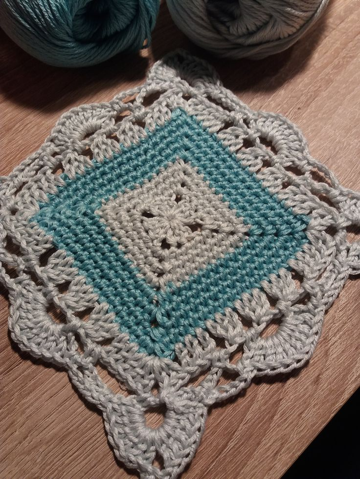 My square pattern from cotton yarn