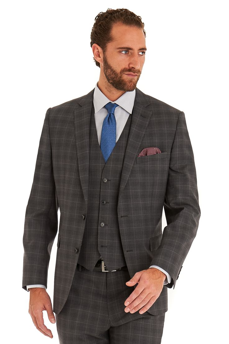 1000  ideas about Grey Check Suit on Pinterest | Fitted suits