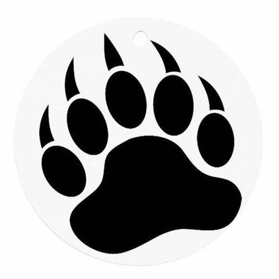 Grizzly Bear Decal Bear Paw Print Bear Paws Paw Print