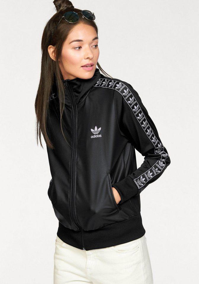 adidas Originals Trainingsjacke »FIREBIRD TT« für 69,99€. Trainingsjacke von adidas Originals, Aktuelle Blousonform, Vorder- und Rückenteil in Lederoptik bei OTTO