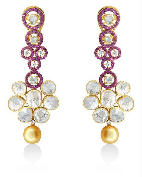 Designer #Diamond Polki #Earrings for you!