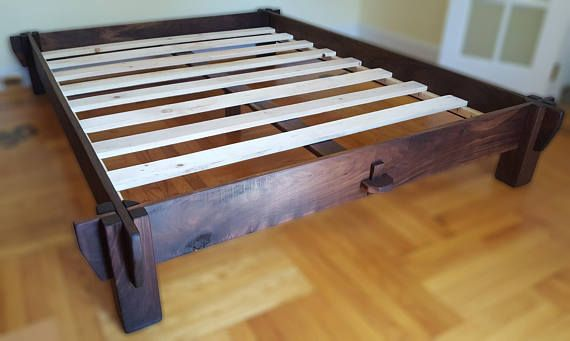 This Solid Bed Frame Is Built To Simple Rustic Contemporary Style