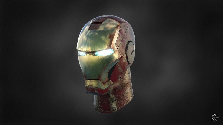 Iron Man helmet. Modeled in NX rendered in KeyShot.