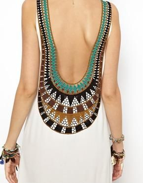 Shhhhexy! (Kiss The Sky Goa Goddess Embroidered Back Dress from ASOS)