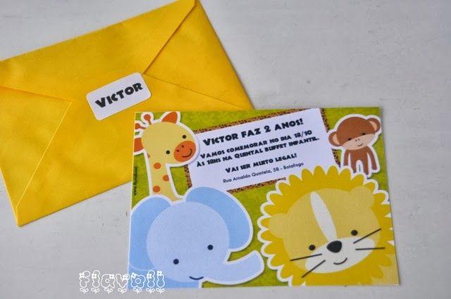 Convite Safari Baby  : flavoli.net - Papelaria Personalizada :: Contato: (21) 98-836-0113 vendas@flavoli.net