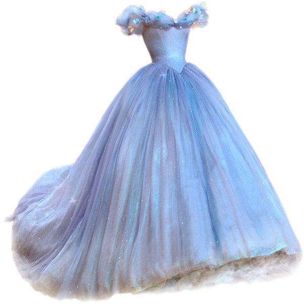 satinee.polyvore.com - Cinderella gown ❤ liked on Polyvore featuring dresses, gowns, cinderella and costumes