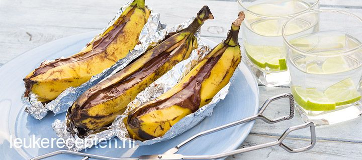 banaan van de barbecue