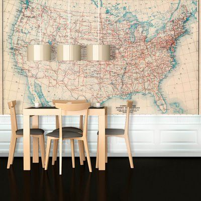 Swag Paper United States 1926 Highway Map Self-Adhesive Wallpaper - MUSROADRET1